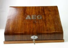 AEG Schreibmaschine ca 1927 in toller Holzabdeckung  Antik 19 Kg!! Pro-1796