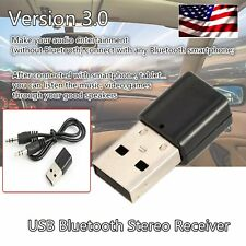 USB Wireless Bluetooth 3.5mm AUX Stereo Audio Music Car Auto Adapter Receiver US