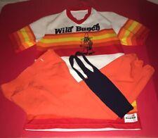Vintage Wild Bunch Baseball Uniform Sand Knit 1970's Orange Top Size M Pants S