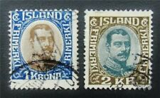 nystamps Iceland Stamp # 126,127 Used $40 J15y914