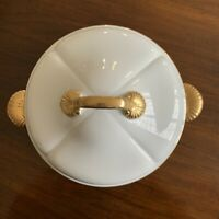 Vintage GEORGES BRIARD Coquille D'Or Ovenware Gold Round Casserole Dish w/ Lid