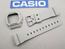 Genuine Casio G-Shock GW-M5610SD resin rubber watch band & bezel set beige tan