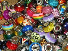 NEW HOT COLORS High Visual 60/pcs MIXED Acrylic charm, European Beads LOT