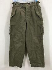 Vintage 60's German Military 100% Wool Green Cargo Hunting Pants 31x30