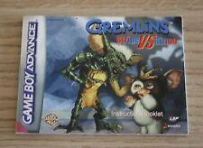 Gremlins: Stripe vs. Gizmo - PAL - Nintendo Gameboy Advance Manual Only
