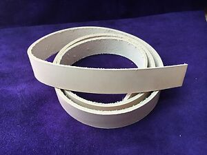 X- LONG Strap Belt Blank Veg Tanned natural Leather remnant off cut RATS BUM