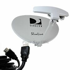DIRECTV 4K UHD RB SWM5 Reverse Band SATELLITE DISH Antenna KIT + SWM SPLITTER