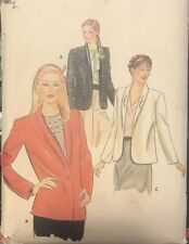 Vtg Butterick pattern 4057 Misses Lined Jacket with shawl collar  sz 12-16 uncut