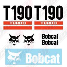 Bobcat T190 Turbo Skid Steer Set Vinyl Decal Sticker Aftermarket