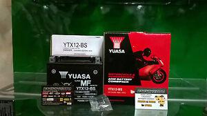 Batería Triumph YUASA YTX12-BS Cargado América 865 2011 2012 2013