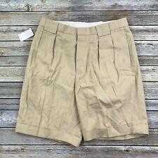 Polo Golf Ralph Lauren Mens 32 Gavin Shorts Cuff Dune Tan Linen Silk New