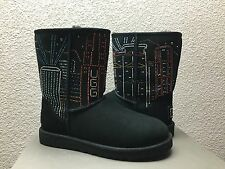 UGG CLASSIC HONG KONG SWAROVSKI CRYSTAL BLACK BOOT US 6 / EU 37 / UK 4.5 LTD EDT