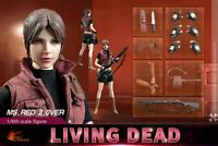 """1/6 12"""" Figure Hot Heart FD008 Ms.Red 2.0 Resident Evil Living Dead Claire Set"""