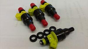 SMP FJ168 NEW Fuel Injectors Colt Mirage Summit 1.8L 1992-96 Set of 4 with seals