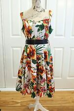 ROCKABILLY Dress Size 18, Hearts and Roses Tea Dress, Floral Print Tea Dress