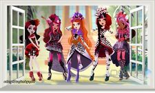 Ever After High 3D Window View Removable Wall decor Girls Stickers Art Mural