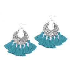 Fashion Bohemian Vintage Long Tassel Fringe Boho Dangle Earrings Women Jewelry