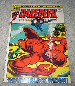 Daredevil 81 Black Widow Gene Colan Avengers HG Bronze LOT