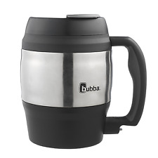 Classic Insulated Mug 52oz. Black Extra Large Thermos Cup Travel Coffee Mugs