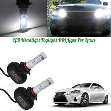 White LED High Beam Daytime Running Light Kit For Lexus IS GS ES LS RX LX