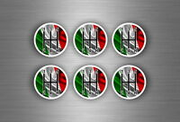 6x sticker aufkleber schaltknauf tuning jdm schalthebel italien fahne flagge