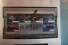 2012 THE GAMBIA  WHALES  MINI SHEET 6 STAMPS MUH