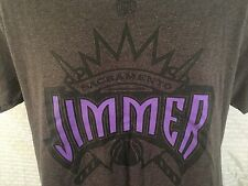 JIMMER FREDETTE T-Shirt Medium (2-Sided) Gray Sacramento Kings #7 by Majestic