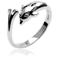 Gem Eyes Toe Ring (toe 1L) .925 Sterling Silver Dolphin W/ Clear Cz