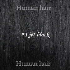 Full Head Clip in Human Hair Extensions 100% Human Hair All Color Stock