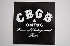 CBGB & OMFUG Sticker Decal (64) Rock Car Window Bumper Truck