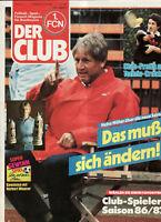 BL 87/88 1. FC Nürnberg - DER CLUB - Heft 11/1987