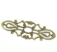 Embellishments 10 Antique Bronze Filigree Wraps Connectors Card Making Craft 677
