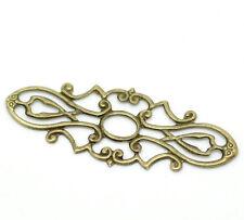 10 Antiguo De Bronce Filigrana Wraps Conectores Adornos De Creación De Tarjetas Artesanales 677