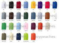 Gildan NEW Adult Ultra 100% Cotton Long Sleeve T-Shirt 2400 Mens Size S-5XL Tee