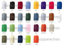 Gildan NEW Adult Ultra 100% Cotton Long Sleeve T-Shirt Mens Size S-5XL Tee 2400