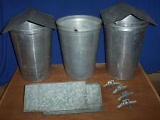 8 MAPLE SYRUP Aluminum Sap Buckets +Lids COVERS + TAPS Spiles Spouts