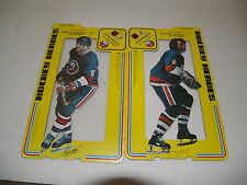 1975 Cardboard Stand up Hockey Heroes New York Islanders Lot of 2-one is sealed