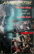 ANNIHILATOR Carnival Diablos, Sanctuary promotional poster,2001, 11x17, EX,metal