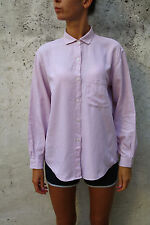 MARINA YACHTING LADIES Long Sleeved Casuals Cotton Pink Tartan Shirt Top L LOOK