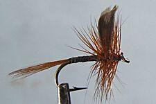 1 x Mouche de Peche Sèche Quill Rouge H14/16/18 fliegen fly red