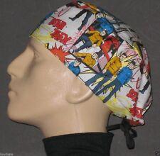 STAR TREK CARTOON WITH SPOCK & KIRK CARTOON SCRUB HAT / FREE CUSTOM SIZING