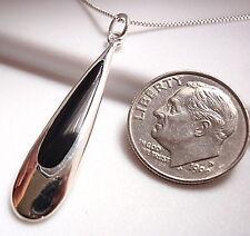 Drop of Black Onyx Necklace 925 Sterling Silver Corona Sun Jewelry