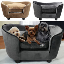 Pet Sofa Lounger Bed Sleep w/Padded Cushion for Cats Small Medium Dogs Puppies