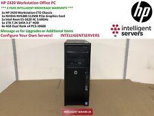 HP Z420 Workstation Intel Xeon E5-1620 3.6GHz 16GB RAM 1TB SATA Nvidia NVS300