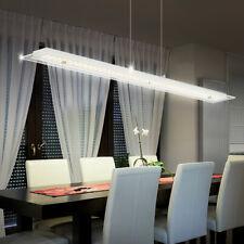 Kristall Decken Esszimmer Lampe länglich Pendel Hänge Leuchte 100cm Chrom massiv
