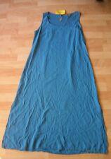 CITRON Santa Monica  Blue Silk Long Sleeveless Dress Size M NWT