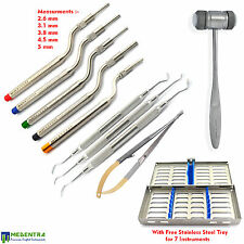 Sinus Lift instruments-Curettes Osteotomes-Offset-Concave Tip Handle Implant New