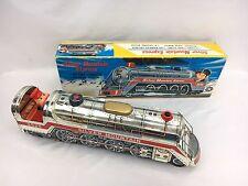 Silver Mountain Express Trademark Modern Toys Japan Battery Powered Tin Train