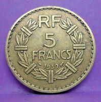 5 francs lavrillier 1939 - TTB - pièce de monnaie française - N15603