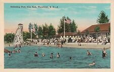 Swimming Pool at City Park in Watertown SD Postcard